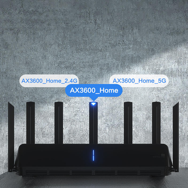 Global Version Xiaomi Mi AIoT Router AX3600 Six-Core Chip Dual-Frequency WiFi 3-Gigabit Wireless Rate WPA3 Network Encryption 5