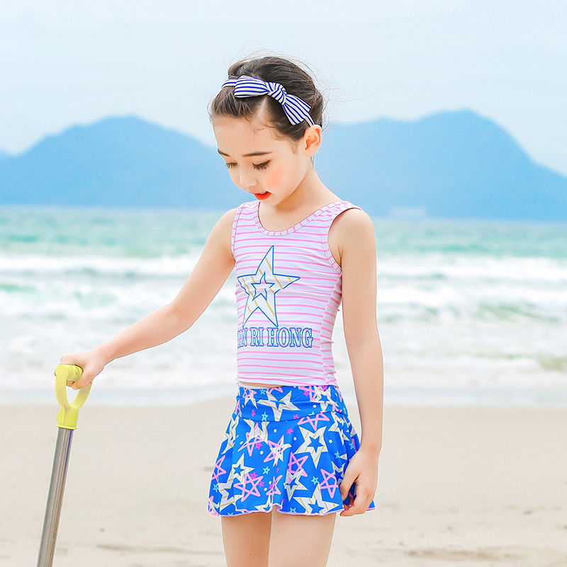 KID'S Swimwear GIRL'S Split Skirt-GIRL'S Swimsuit Baby Girls Big Boy CHILDREN'S Princess Cute Tour Bathing Suit