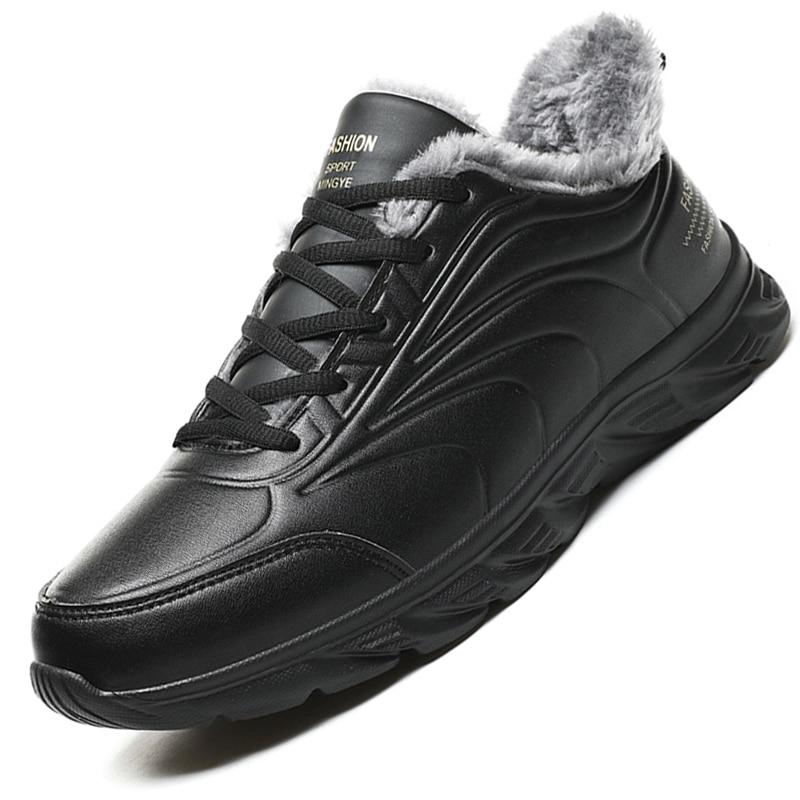 Мужские зимние ботинки, удобные водонепроницаемые кроссовки, нескользящая легкая резиновая подошва, для ходьбы, работы, повседневная обувь|Зимние сапоги| | АлиЭкспресс