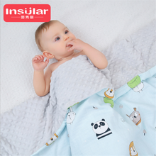 4-layer Gauze Baby Blanket Muslin Baby Blankets Warm Bubble Flannel Thermal Soft Stroller Sleep Cover Cartoon Infant Bedding