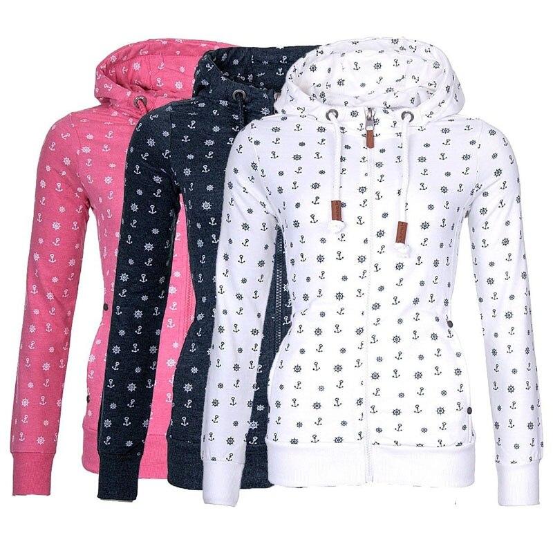 Women Casual Fall Hoodies 2020 Autumn Fashion Clothes Streetwear Hooded Harajuku Zipper Jacket Fleece Sweatshirts Winter Outwear