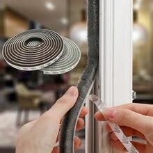 KK & FING 3M/5M Selbst-adhesive Abdichtung Wind-proof Pinsel Streifen Hause Tür Fenster schallschutz Streifen Dichtung Zubehör