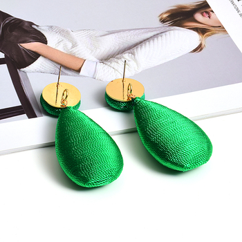 Satin Statement Handmade Drop Earrings  2