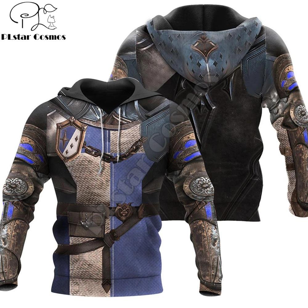 Knight Armor 3D All Over Printed Men Hoodie Harajuku Fashion Hooded Sweatshirt Unisex Jacket Cosplay hoodies Drop shipping