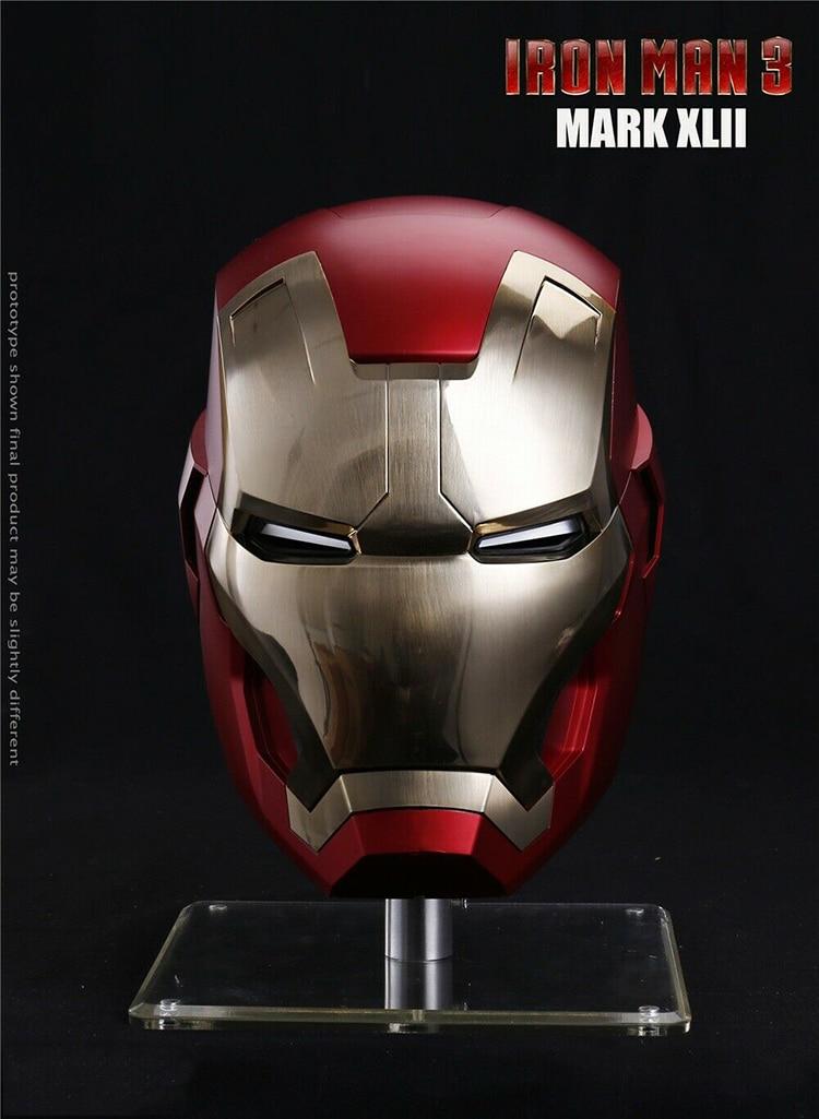 Marvel Captain America Civil War 1//1 Iron Man MK46 Helmet Auto On-off Model NEW