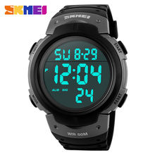 Skmei 1068 модные уличные спортивные часы для мужчин с большим