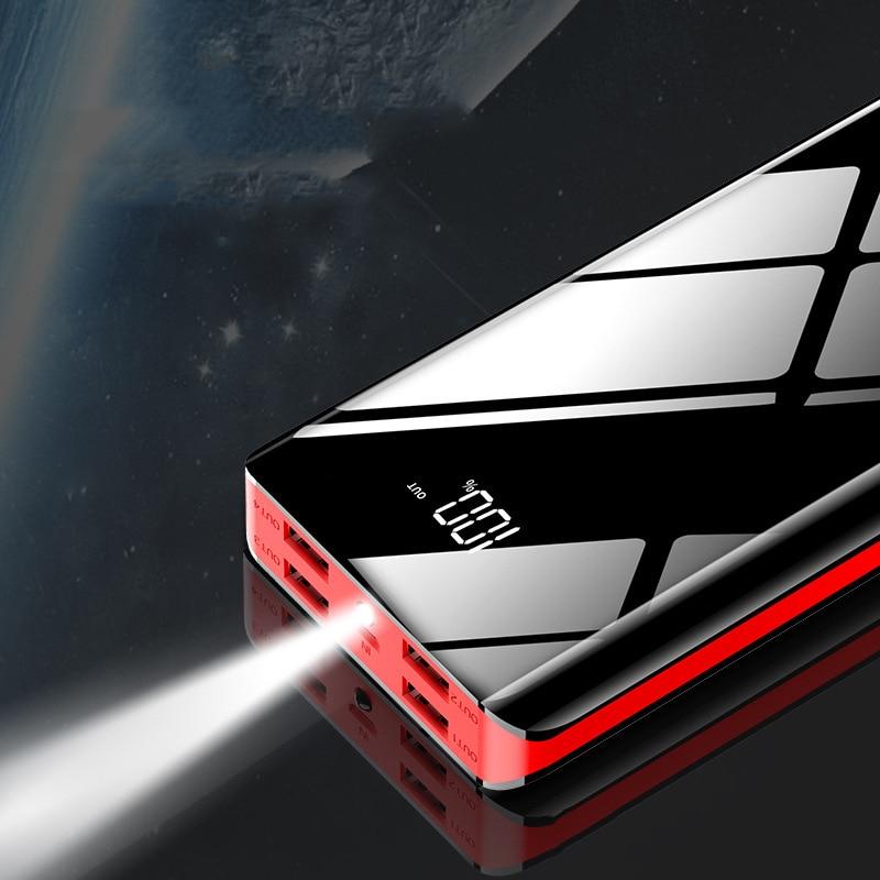 Внешний аккумулятор 30000 мАч, 4 USB, внешний аккумулятор для мобильного телефона, быстрая зарядка для iPhone 11, Xiaomi Mi, повербанк, портативное зарядн...