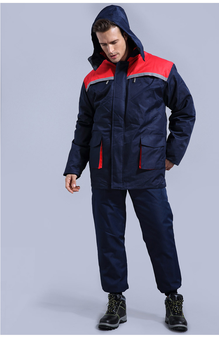 Winter Working Clothing Men Cold Storage Overalls Thick Warm Clothing Bib Cotton Suit Set Split Protective Safety Clothing (5)