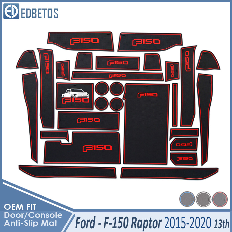 Anti-Slip Mat For Ford F150 F-150 Raptor F Series 2015 2016 2017 2018 2019 Accessories Gate Slot Coaster Anti-Dirty Door Groove image