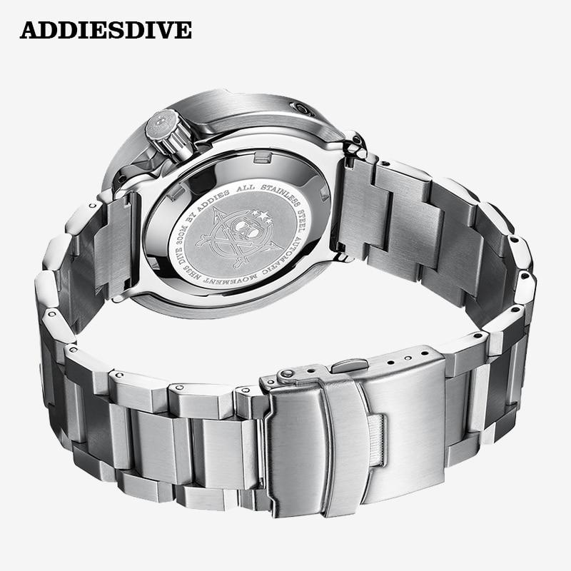 Addies Dive Men's Automatic Watch NH35A Sapphire Crystal Ceramic bezel BGW9 Luminous 30bar steel Tuna diver Men watch watches 5