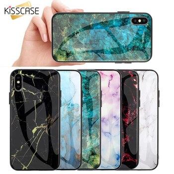 Перейти на Алиэкспресс и купить KISSCASE мраморный чехол для Samsung A50 A51 S20 S8 S9 S10 a7 a8 Note10 стеклянный чехол для Samsung A71 чехол A10 A20 S20 S8 S9 s10 Plus