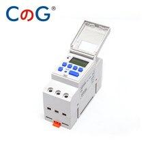 Temporizador Digital programable CG Din Rail, interruptor THC15A, relé de Control de potencia, 220V, 230V, 6A, 10A, 16A, 20A, 25A, 30A, electrónico, semanal