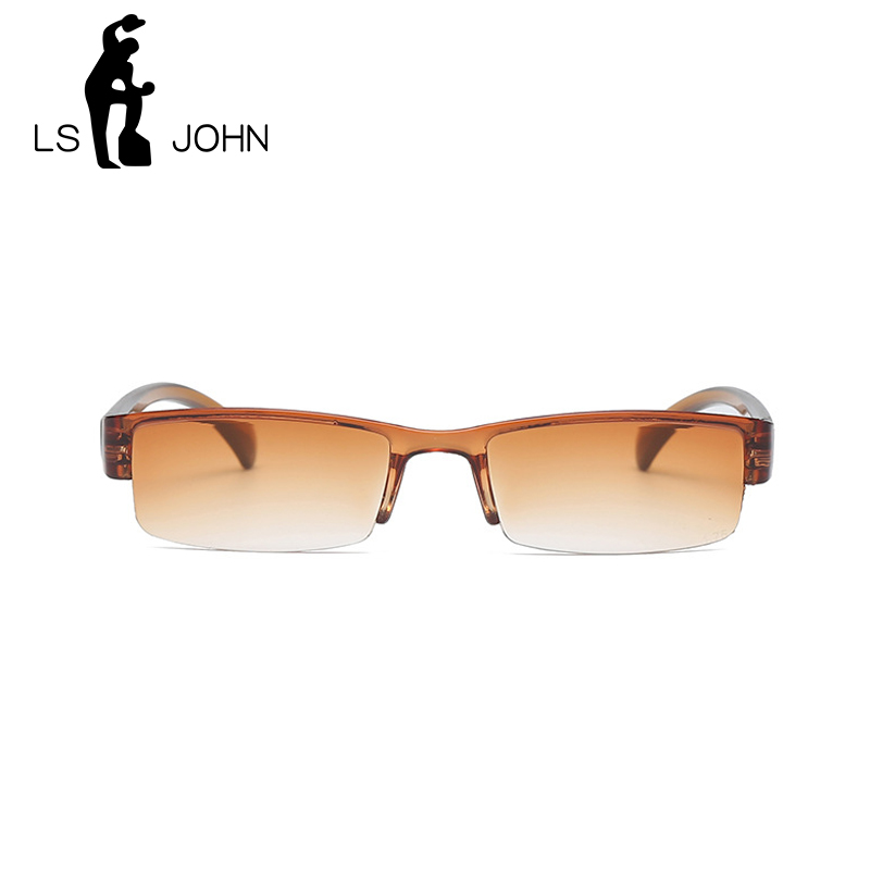 LS JOHN Korean Fashion Reading Glasses Men Women Clear Lens Half Frame Presbyopic Eyewear 1.0 1.5 2.0 2.5 3.0 3.5 4.0 for Reader Eye Sight Glasses Goggles Home, Pets and Appliances 7fbb8c2a551aaaea0fd30c: +100|+150|+200|+250|+300|+350|+400