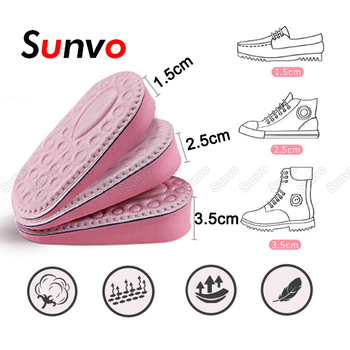 Sunvo Invisible wkładka podwyższająca dla kobiet podeszwa buta podnoszenie pięty wysokość oddychająca pół wkładki wkładki buty poduszki poduszki tanie i dobre opinie CN (pochodzenie) 3 cm-5 cm Średnia (B M) Wkładki do butów Hight Increase Half Insole WOMEN Memory foam Stałe Szybkie suszenie
