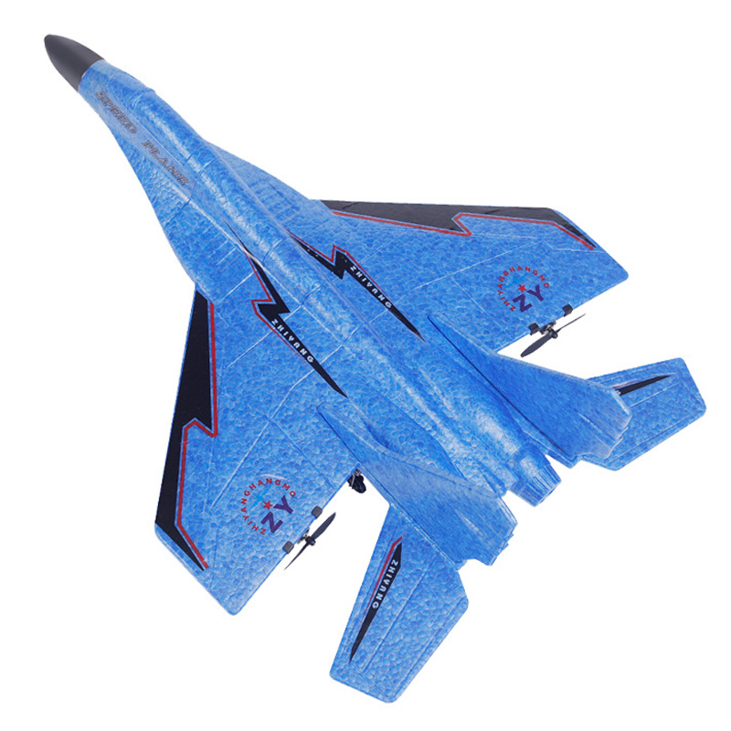 RC Airplane MIG-530 Cool RC Fight Fixed Wing RC Airplane MIG-530 2.4G Remote Control Aircraft RC Plane Christmas Gift,Blue