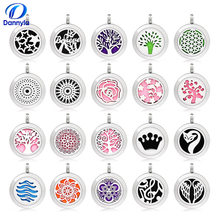 20mm Stainless Steel Aromatherapy Necklace Diffuser Pendant, Accept Customization CA157-208(China)