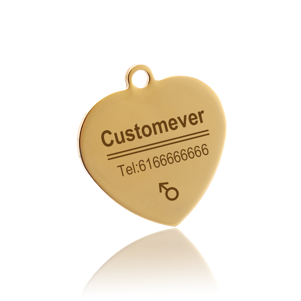 Custom Dog Tags in Rose Gold Silver or Black Engraved Stainless Steel Pet ID Cat Tag Name Dog Bone Personalized Dog Collar Tag 3