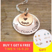 XiaoJing 925 sterling silver personalized necklace custom name or letter two layers of round fashion jewelry gift 2019