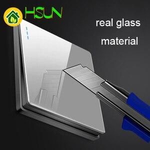 Image 3 - เกรด 1 2 3 4 1 2 way big แผงสีเทาสวิทช์ประเภทซ็อกเก็ต 86 ผนัง 2.5D cambered กระจก Toughened glass คอมพิวเตอร์ทีวี