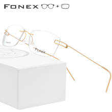 Screwless Eyewear Korean Prescription Glasses Men Rimless De