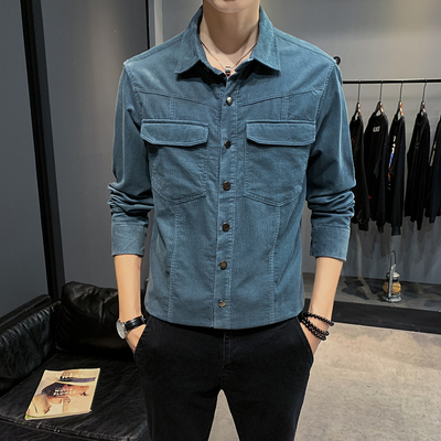2019 Autumn And Winter New Corduroy Long-sleeved Shirt Men's Autumn New Japanese Trend Pockets Tide Brand Casual Loose Men's Shirt Jacket
