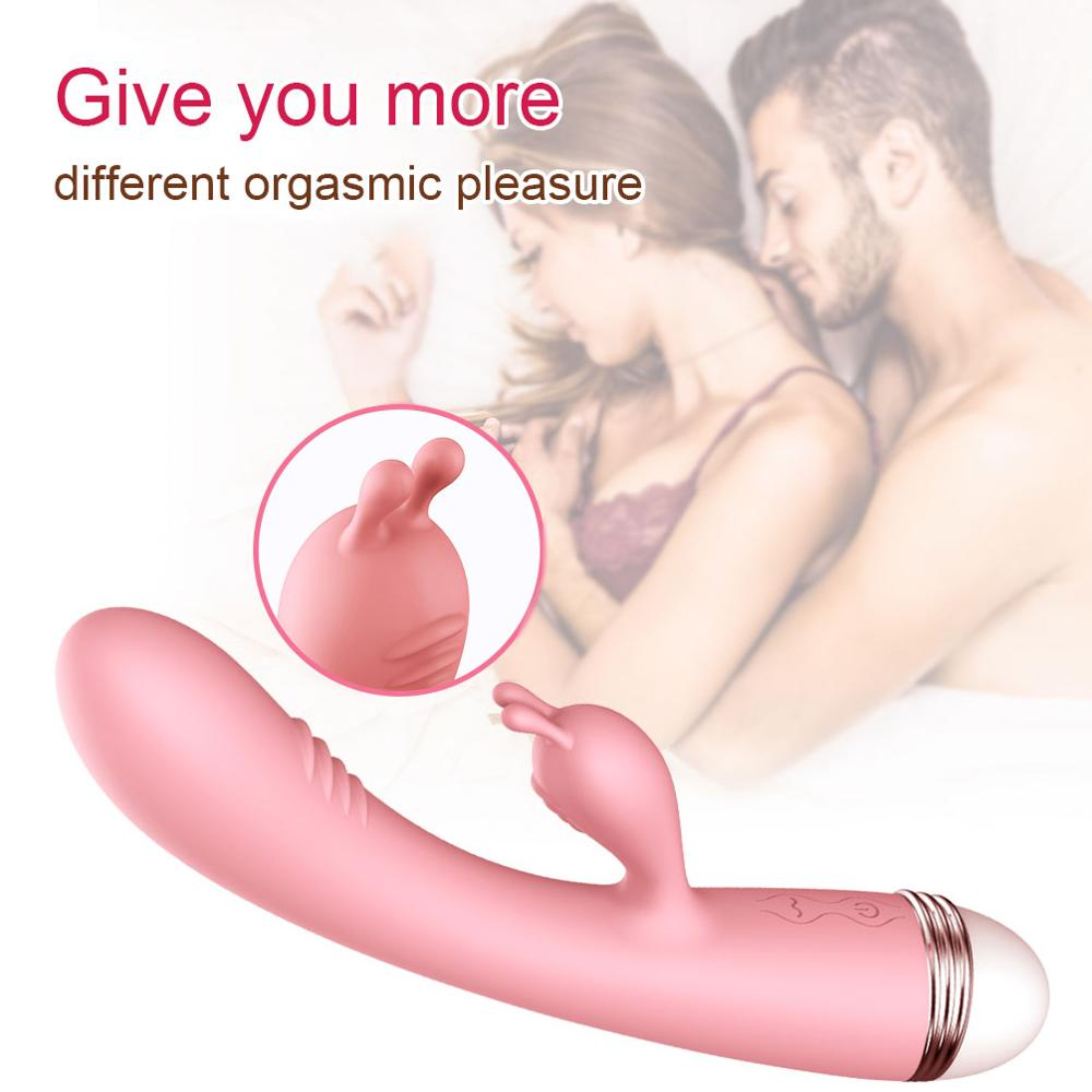 Strong Dildo Vibrator G-Spot Rabbit Vibrator Clitoris Stimulator Vaginal Massager Sex Toys for Women Female Masturbation img3