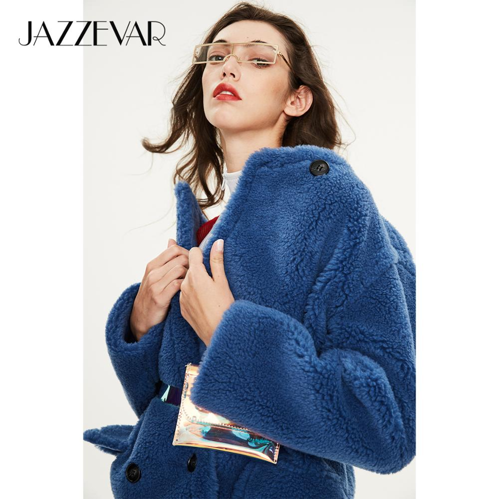 JAZZEVAR 2019 Winter new arrival fur coat women loose clothing high quality mid-length style thick warm winter coat K9064-1(China)