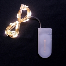 Free shipping NEW 1M 2M 5M CR2032 Battery LED Holiday String Lights Fairy Garland For Christmas Wedding Party Home Decoration
