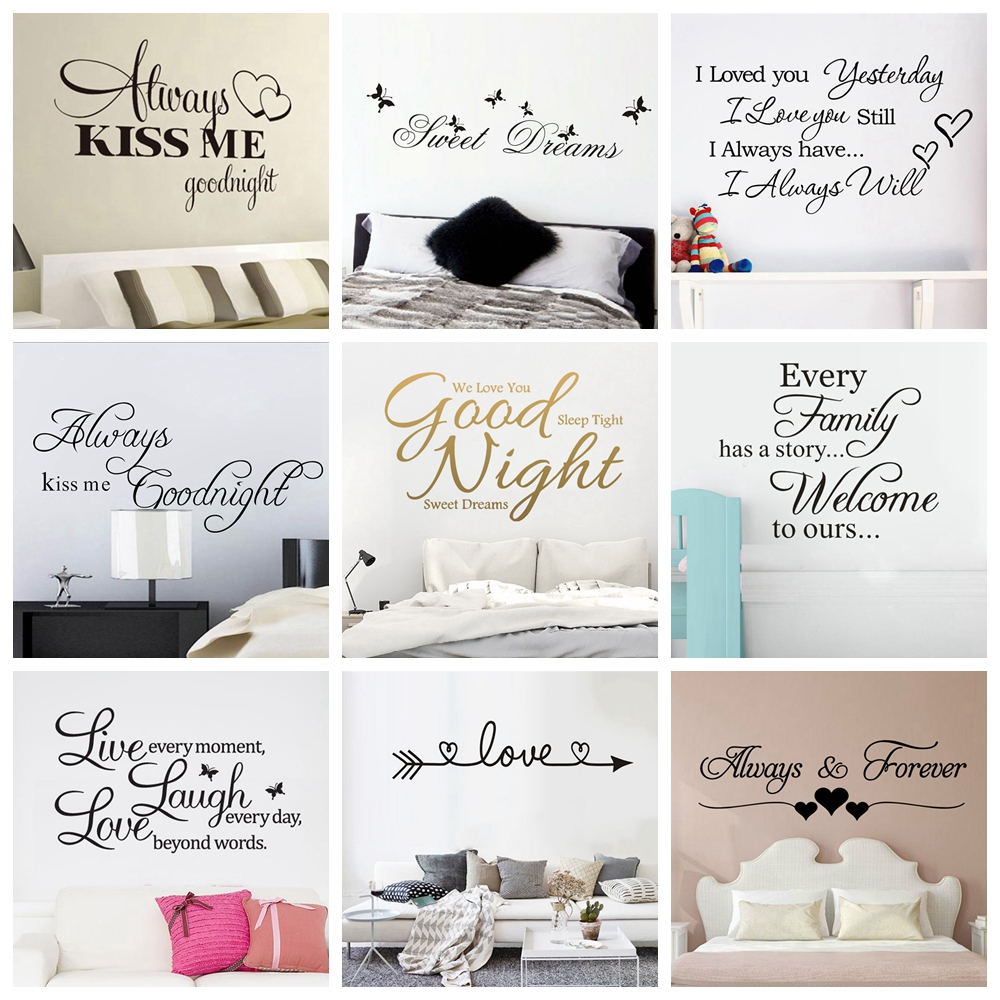 Quote Good Night Sweet Dreams Wall Stickers Personalized Creative For Living Room Bedroom Art Decals Wallstickers