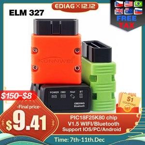 Image 1 - ELM327 V1.5 OBD2 Scanner KW902/P02 Bluetooth/WIFI PIC18f25k80 MINI ELM 327 OBDII KW902 lecteur de Code pour téléphone Android