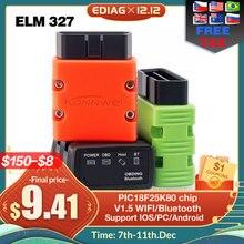ELM327 V1.5 OBD2 Scanner KW902/P02 Bluetooth/WIFI PIC18f25k80 MINI ELM 327 OBDII KW902 lettore di codice per telefono Android