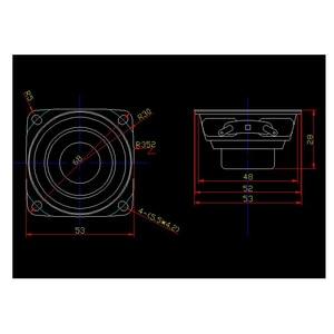 Image 2 - 2pcs 2 นิ้ว Full Range ลำโพงบาร์เสียงแบบพกพา 4 โอห์ม 8 โอห์ม 15W ลำโพงกลางแจ้ง DIY HIFI boombox โฮมเธียเตอร์ 5.1 ลำโพง
