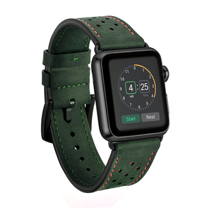 Image 1 - Leather WatchBand Straps For Iwatch 38 mm 44 mm , VIOTOO Green Color Genuine Leather WatchStraps Bands For Apple watch