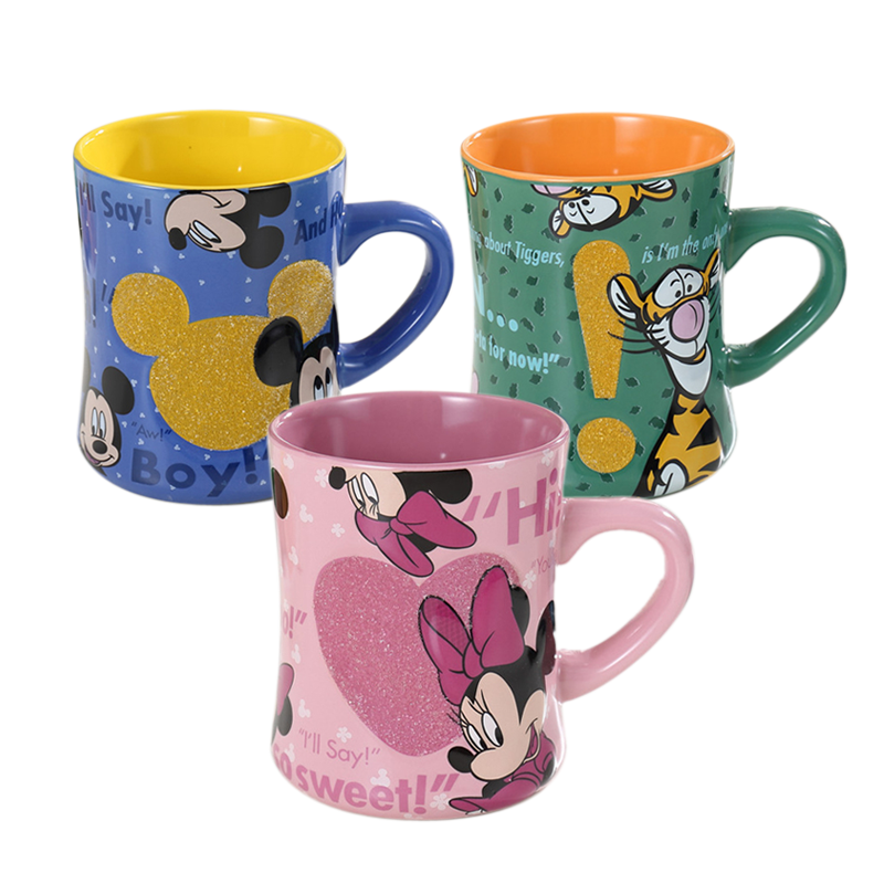 500ml Disney Mickey Minnie Cartoon Ceramic Water Cup Coffee Milk Tea Mug Lover Couple Cups Home Office Collection Cup Gifts
