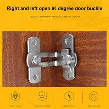 Зажимные защелки из нержавеющей стальной для раздвижной двери замки цепи безопасности аппаратные средства для оконного шкафа отель 3/4 дюймов 90 градусов