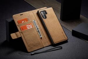 Image 3 - WHATIF S10 S10e чехол для Samsung Galaxy Note 10 9 S8 S7 edge чехол Магнитный Флип съемный кошелек задняя крышка для Galaxy S9 S9 plus