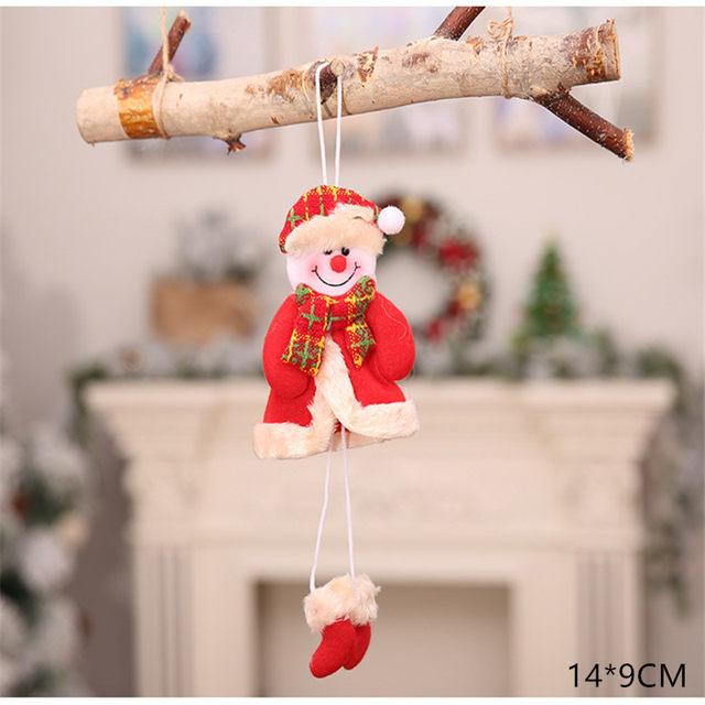 New Year 2020 Cute Santa Claus/Snowman/Angel Christmas Dolls Noel Christmas Tree Decoration for Home Xmas Navidad 2019 Kids Gift 49