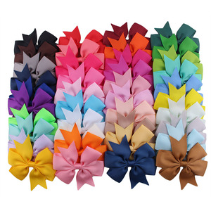 Nishine 20pcs/lot Grosgrain Ribbon Hair Bow with Clips Baby Girls Bow Hair Clip Hairpins Children Photo Shoot Hair Accessories