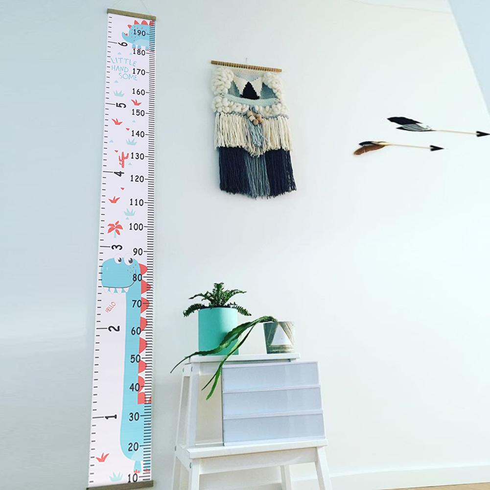 Decorative Height Measure Ruler Growth Chart Multifunctional Bedroom Home Decor With Hook Pen Infant Growth Essential Supplies