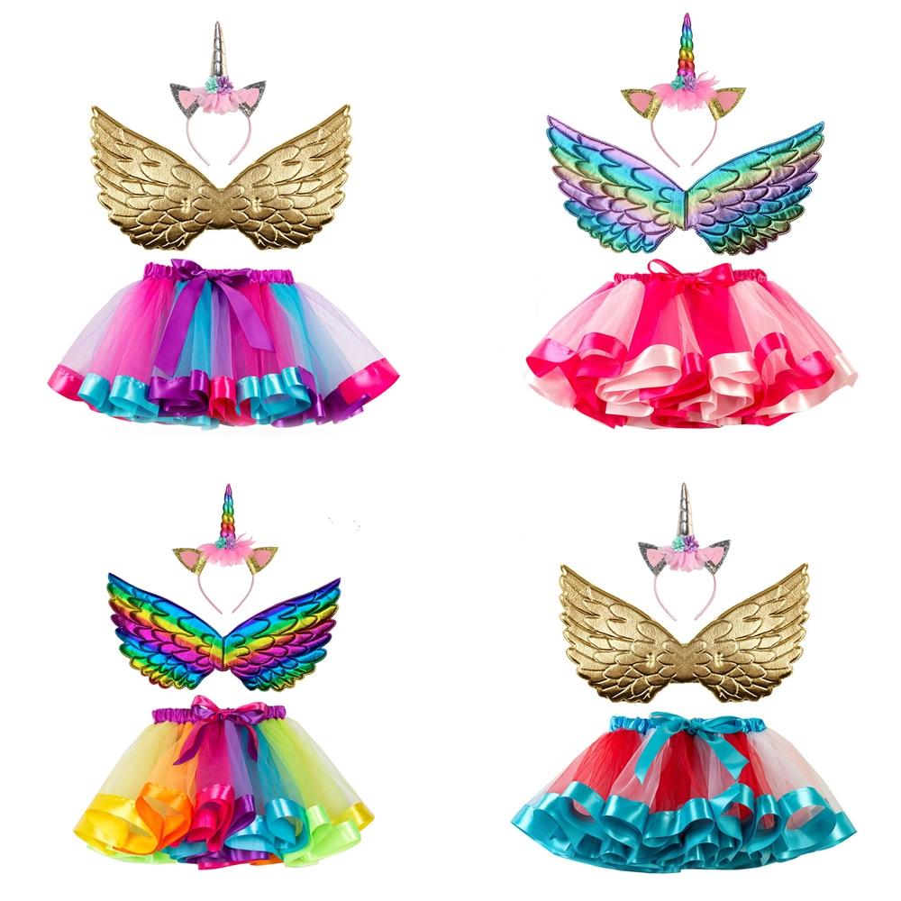 3 pçs meninas tutu vestido para a minha menina criança pônei traje para festa de halloween clássico crianças traje de aniversário meninas roupa