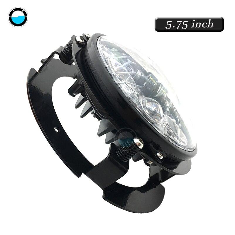 1pcs  Chrome/Black 5.75 Inch LED Motorcycle Headlight Bracket For 5.75 Inch Motorcycle LED Headlights.