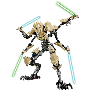 Star Wars The Force Awakens General Grievous Darth Vader Buildable Action Figure Model Building Block Brick Toy For Children 26cm star wars darth vader stormtrooper action figure toys the force awakens anime movies figures lightsaber gift with box