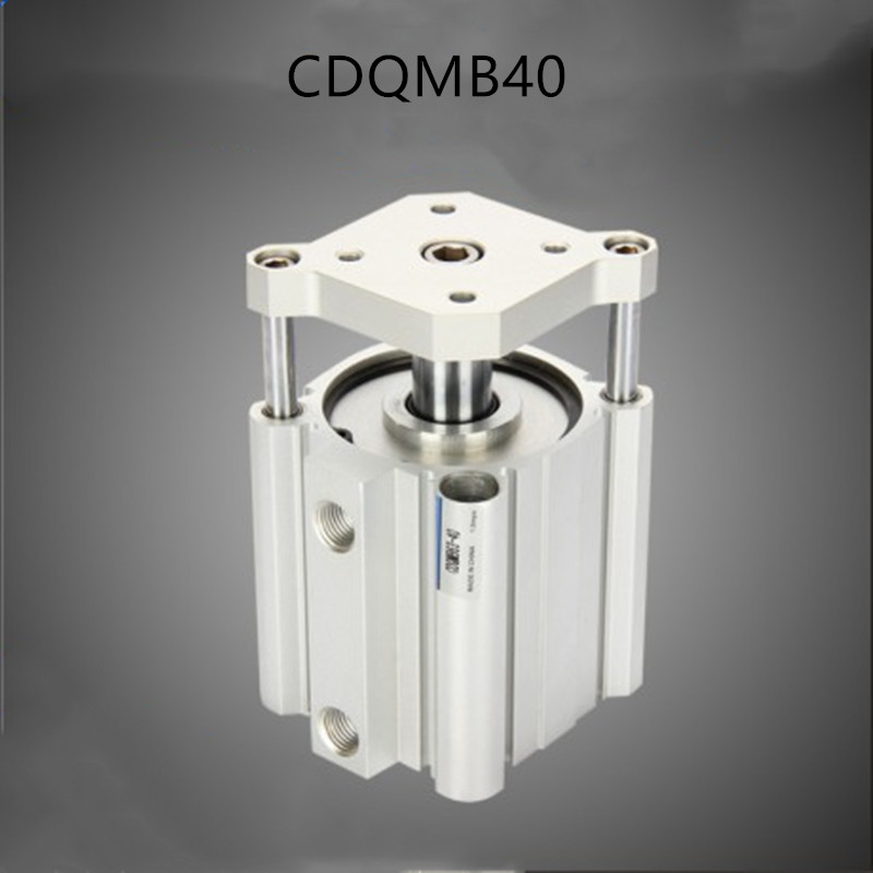 smc type air cylinder CQMB/CDQMB bore 40mm stroke 5/10/15/20/25/30/35/40/45/50mm compact rod guide pneumatic cylinder components