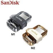 SanDisk OTG USB Flash sürücü 32GB 64GB USB 3.0 çift kalem sürücü Mini Pendrive yüksek hızlı SDDD3 U Disk PC ve Android telefon