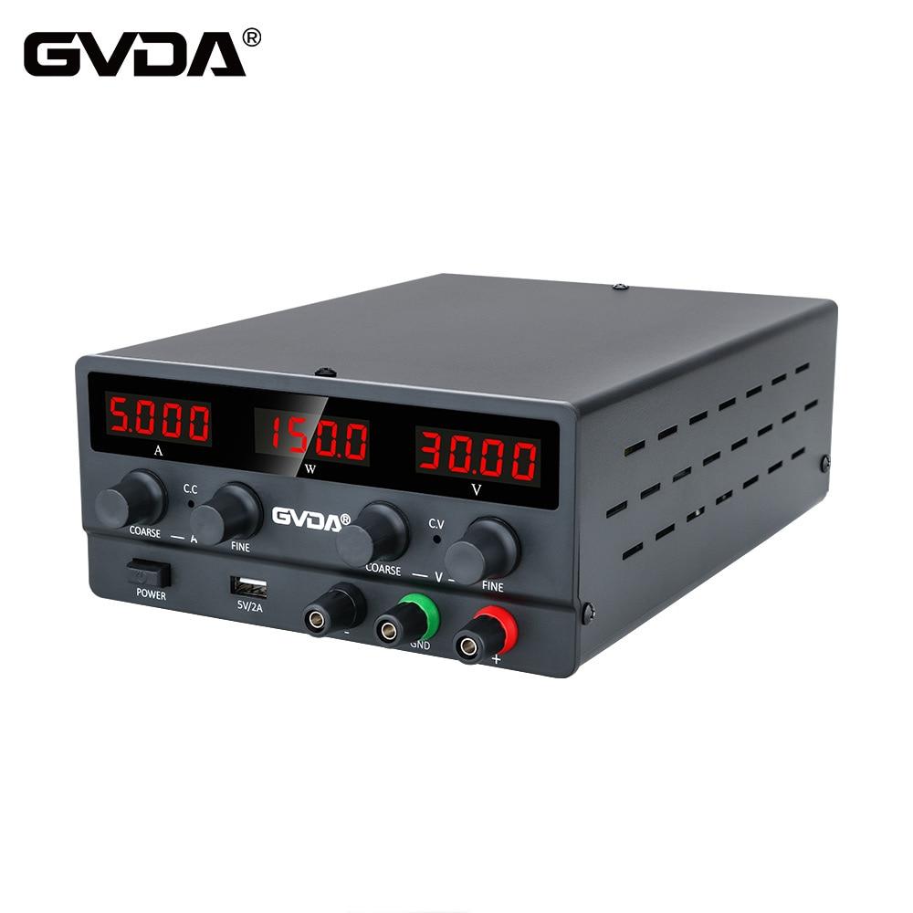Регулируемый лабораторный источник питания GVDA, USB, регулятор напряжения 30 в 10 А, 60 в 5 А, стабилизатор, переключатель, настольный источник пит...