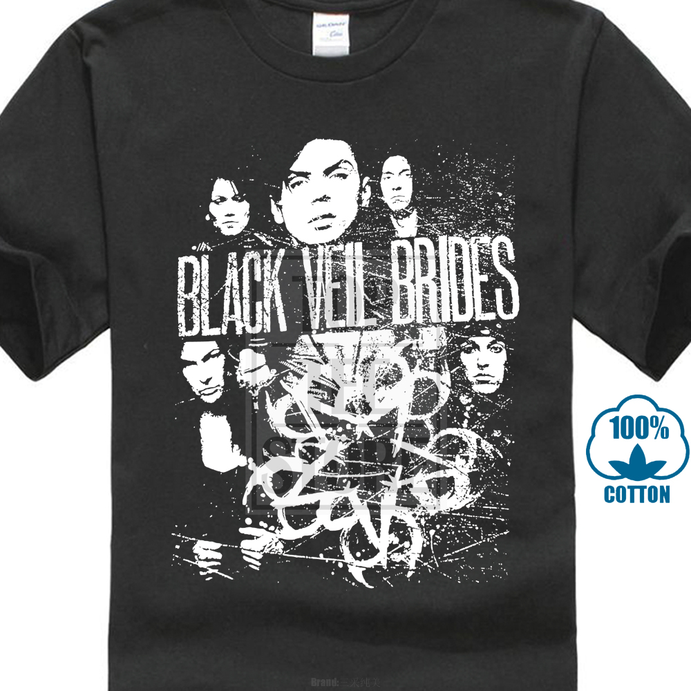 Black Veil Brides Scratched T Shirt S M L Xl 2Xl Brand New Official T Shirt 016716