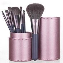 Makeup-Brush Loose-Powder Professional Beauty Lip New-7 Mini-Set Portable