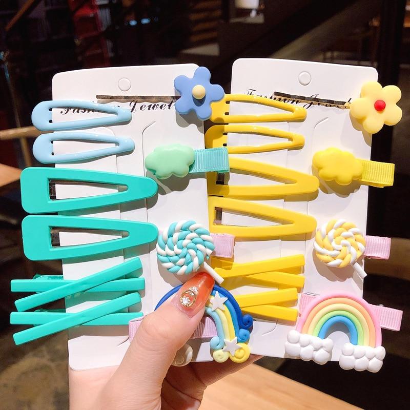 New Children's Cartoon Clay Clay Soft Hair Clip Cute Fashion Hair Accessories Hairpins Children Sweet Kids Barrettes Headband