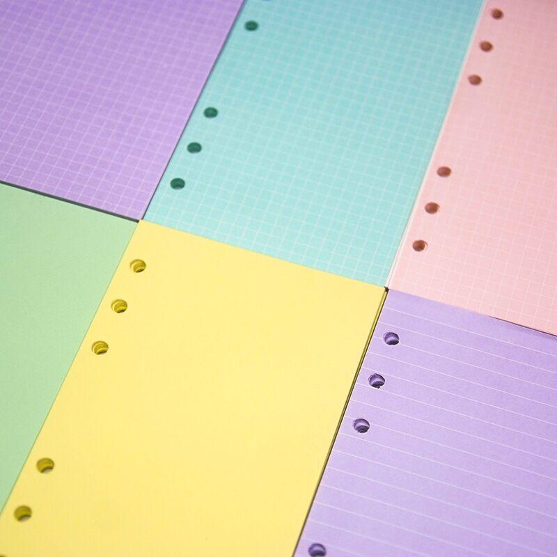 MINKYS 40 листов цветной розовый фиолетовый A5 A6 бумага для ноутбука пополнение спиральный переплет индекс внутри ежедневный ежемесячный недел...