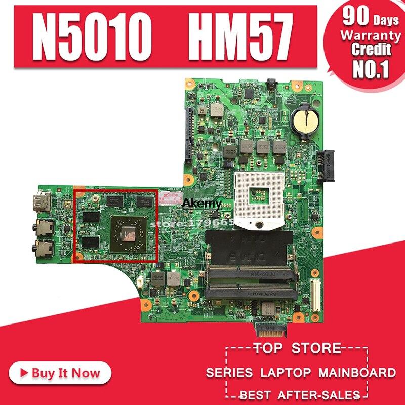 Free Send Cpu 09909-1 For DELL Inspiron N5010 CN-0VX53T CN-052F31 09909-1 48.4HH01.011 HM57 HD5650 GPU Original Test Motherboard